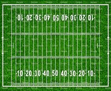 Football Field ~ Frosting Sheet Cake Topper ~ Edible Image ~ D825