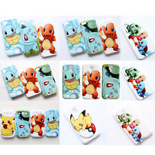 Pokemon Charmander Squirtle Bulbasaur Pikachu Hard Case Cover For iPhone Samsung