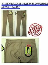 NWT DICKIES GIRLS HH874SK KHAKI ORIGINAL STRETCH LOWRIDER SKINNY PANTS PANT