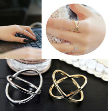New Korean Gold Filled Silver Plated Design Simple Ring Fashion Girls Jewelry