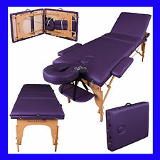 """LIGHTWEIGHT PORTABLE MASSAGE TABLE COUCH BEAUTY THERAPY BED REIKI 3"""" SPA"""