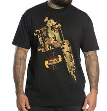 SULLEN CLOTHING  WEAPONS OF CREATION CAMO GUN  SKULL TATTOO SCENE INK T SHIRT