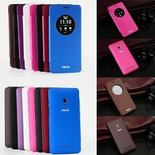 Ultra-Thin Slim Circle Window Flip Leather Case Cover For ASUS ZenFone 5 6 2 5.5
