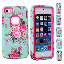 CHEAP Hot Sale 2014 VINTAGE FLORAL PC + Silicon Bumper Case Cover For IPHONE 5C