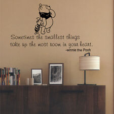 Winnie The Pooh inspired Vinyl Wall Decal Quote Sticker Art Kid Child Room Home