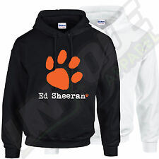 ED SHEERAN HOODED TOP PAW PRINT MUSIC TOUR ALBUM CONCERT ROCK POP PUNK DANCE