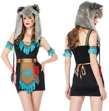 LEG AVENUE Indian Sqaw Wolf Warrior Sexy Fairytale Fancy Dress Costume 85205