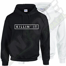 KILLIN' IT HIPSTER HOODED TOP HOODY HOODIE WASTED YOUTH SWEATER SWAG DOPE ILLEST