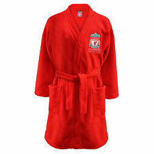 Liverpool FC Official Football Gift Kids Fleece Dressing Gown Red (RRP £14.99!)
