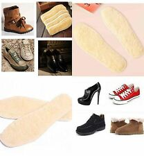 1Pair Artificial Wool Insole Thick Plush Warm Absorb Sweat Solid Unisex Insoles