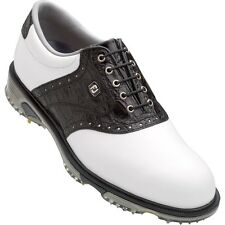 New FootJoy Men's FJ DryJoys Tour 53767 Golf Shoes BLACK/WHITE Closeout