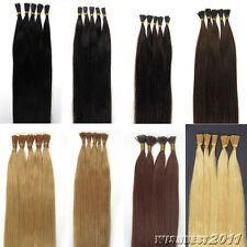 """Pre Bonded Keratin Stick I Tip Indian Remy Human Hair Extensions 16""""-24"""" 100S 6A"""