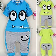 Toddler Baby Boys Girls Infant Suit Kids Long Sleeve Tops+Pants Outfit Sets 2PCS