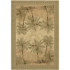 Couristan Everest Palm Tree Desert Sand Floral Area Rug