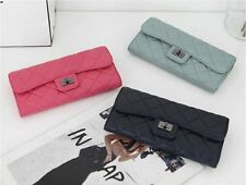 New PA10 Mini Vintage Lamb Skin Leather Quilted Cross body Clutch Bag Wallet