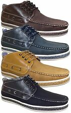 Men Brixton Winter Boat Shoes Moccasins Driving Oxfords Lace up Boots Dacio03B