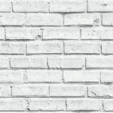 NEW ARTHOUSE VIP WHITE BRICK WALL STONE EFFECT PHOTOGRAPHIC WALLPAPER 623004