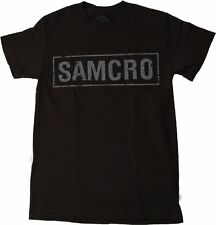 Sons of Anarchy SOA SAMCRO Logo Official Licensed NWT Adult Black T-Shirt