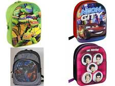 Kids Official TV Character Disney 3D Effect School Bag Backpack Rucksack New