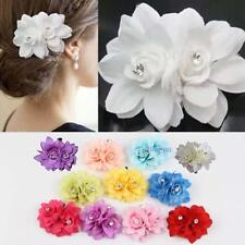 Korean Ladies style Beauteous Hair Flower Clip Pin Bridal Wedding Prom Party TL