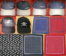 For sale a selection of good quality canal barge ware caps, bandanas & scarves