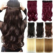 Clearance Stock Half Full Head Clip In Hair Extensions Wavy Curly Straight atm