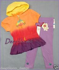 ECKO RED BABY OUTFIT SET DRESS LEGGINGS JACKET HOODED GIRLS 24 MONTHS HIPPIE NEW