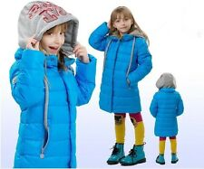 Kids Girls Fashion Thicken long section Down Jacket 5 Color size 5-10Y