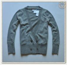NWT J.Crew $178 100% Cashmere Double Breasted Cardigan Sweater Gray