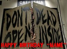 WALKING DEAD ZOMBIES Edible Cake Topper Frosting Sheet - quarter and half size