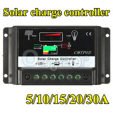 5A/10A/15A/20A/30A MPPT Solar Panel Battery Regulator Charge Controller 12V/24V