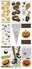 HALLOWEEN CELLO BAGS - Childrens Kids Cellophane Gift Party Loot Treats Sweets