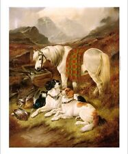 """JOHN GIFFORD """"The Day's Bag"""" dogs grouse pony CATCH sport mountains NEW CANVAS"""