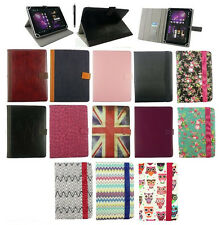 """Smart Universal Multi Angle Wallet Case Cover with Stylus  for 7"""" 8"""" inch Tablet"""