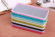 New Soft TPU Bumper Frame With Matte Clear Hard Back Skin Case Cover for iphone
