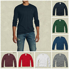 NWT ABERCROMBIE & FITCH MENS MOOSE CREEK TEE LONG SLEEVES SIZES S, M, L, XL, XXL