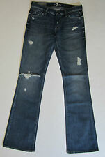 7 For All Mankind Jeans 29 30 Original Boot Cut Jean Distressed VCAL NWT $225