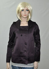 NWT $1,495 Burberry Prorsum Purple Cotton Satin Double Breasted Jacket Italy