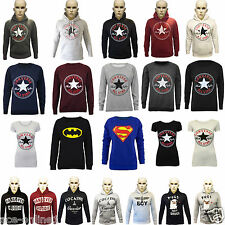 New Womens Ladies Converse Print Hooded Sweatshirt Printed Hoodies Jumper Top