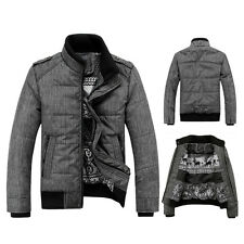 Men's New Short Thick Cotton Casual Coat Winter Warm Jacket Outwear M L XL XXL