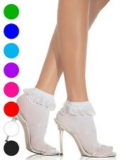 Anklets With Lace Ruffle Socks - Leg Avenue 3013