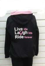 live laugh ride nelson ashby equestrian hoodies Hoody black/pink