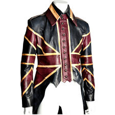 Mens vintage tailored bespoke leather British tailcoat jacket made in London