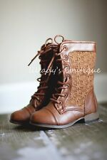 """A Little Persnickety"" Toddler Girls Vintage Style Lace Up Tall Boots 4 5 6 7 8"