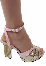 "Pleaser Clearance Women's 4"" Heel Wrap Around Mini Platform Sandal With Fringe"