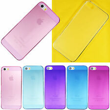 Ultra Thin 0.7mm Hard Clear Matte Frost Back Case Cover Skin for iPhone 5 5S 5G