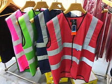 HiVis High Viz Visibility Vest Waistcoat Jacket Safety EN471 Green Navy Pink Red
