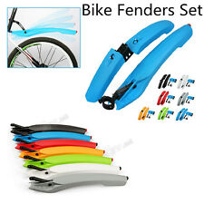 Bicycle Fender Mountain Bike Cycling Front & Rear Fenders Mudguard Set Tail LED