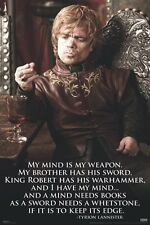 New Game Of Thrones Tyrion Lannister My Mind Is My Weapon GoT Poster