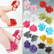 Baby Newborn Infant Toddler Cotton Flower Prewalker Socks Shoes Barefoot Sandals